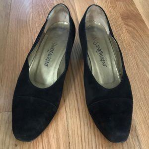 Yves Saint Laurent suede leather shoes, size 8